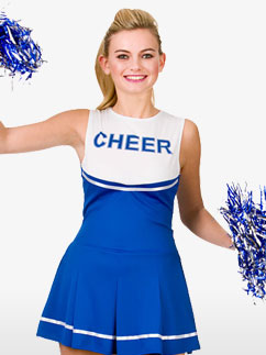 Pom-Pom Girl Bleue - Déguisement Adulte  Fancy Dress