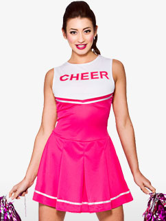 Pom-pom Girl Rose - Déguisement Adulte  Fancy Dress