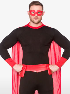 Super-Héros Noir - Déguisement Adulte  Fancy Dress