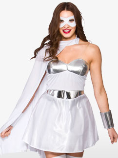 Super-Héroïne Blanche - Déguisement Adulte  Fancy Dress