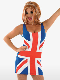Union Jack - Déguisement Adulte Fancy Dress