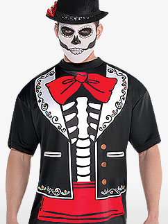 Tee-Shirt Jour des Morts - Déguisement Adulte  Fancy Dress