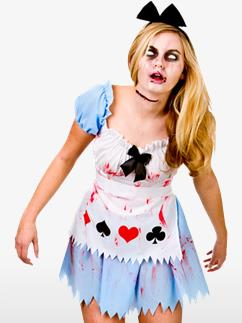 Alice au Pays des Zombies - Déguisement Adulte  Fancy Dress