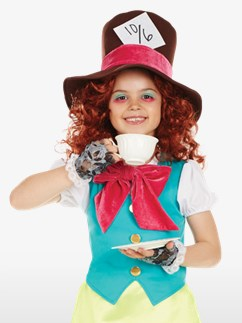 Mademoiselle Chapelier Fou - Déguisement Enfant Fancy Dress