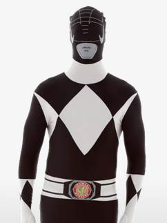 Combinaison Seconde Peau Power Rangers Noir