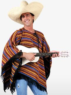 Poncho Mexicain - Déguisement Adulte Fancy Dress