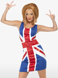 Robe Union Jack - Déguisement Adulte Fancy Dress