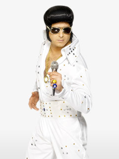 Combinaison Elvis à Strass - Déguisement Adulte  Fancy Dress