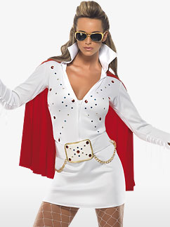 Elvis Viva Las Vegas Blanc - Costume Adulte Fancy Dress