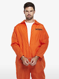 Combinaison de Prisonnier - Déguisement Adulte Fancy Dress