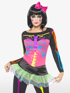 Squelette Fluo - Déguisement Adulte Fancy Dress