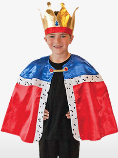 Cape de Roi - Costume Enfant Fancy Dress
