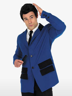 Teddy Boy en Bleu - Déguisement Adulte  Fancy Dress