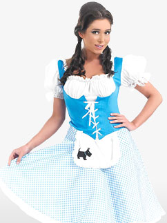 Robe Longue de Dorothée - Costume Adulte Fancy Dress
