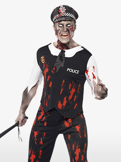 Policier Zombie - Déguisement Adulte Fancy Dress