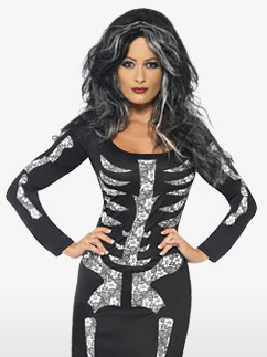 Robe Tube de Squelette - Costume Adulte Fancy Dress