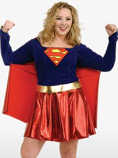 Supergirl Grande Taille - Déguisement Adulte Fancy Dress