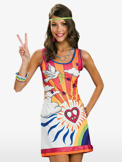Hippie Rêveuse Sunshine - Déguisement Adulte Fancy Dress