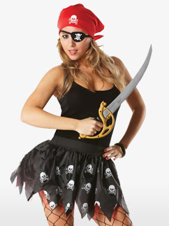 Kit de Pirate en Tutu - Costume Adulte Fancy Dress