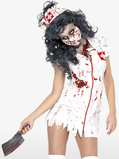 Infirmière Zombie - Déguisement Adulte Fancy Dress