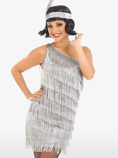 Robe Charleston Argentée - Déguisement Adulte Fancy Dress