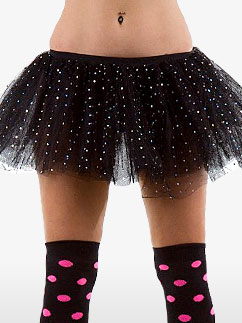 Tutu Noir à Paillettes - Déguisement Adulte Fancy Dress