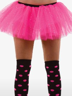 Tutu Rose à Paillettes - Déguisement Adulte  Fancy Dress