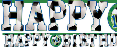 "Guirlande ""Happy Birthday"" avec Âge Personnalisable Football - 3,20 m"