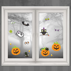 D corations porte et fen tre halloween party city for Decoration fenetre carnaval