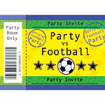 Cartes d'Invitation Football - Taille Moyenne