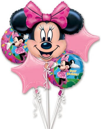 Bouquet de Ballons Minnie Mouse - Alu
