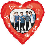 Ballon One Direction - Alu, 46 cm