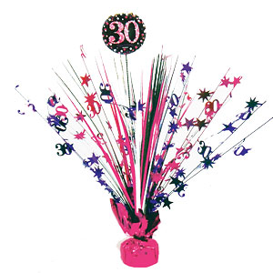 Centre de table anniversaire rose 30 ans d coration de table for Decoration 30 ans