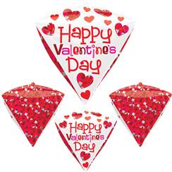 "Ballon Diamant ""Happy Valentines Day"" - Alu, 61 cm"