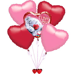 Bouquet de Ballons Saint Valentin Tatty Teddy - MOINS 10%